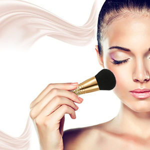 Other - Golden sparkle Kabuki makeup blush brush